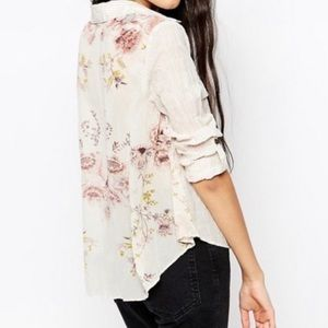 Free People • Party in the Back Floral Button Down